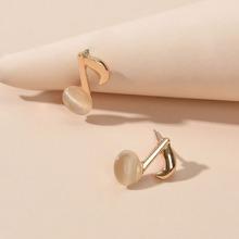 1 Paar Ohrringe mit Musiknote Design