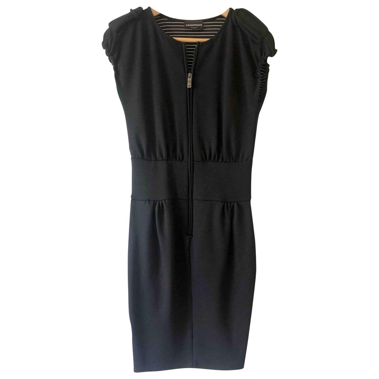 Emporio Armani - Robe   pour femme en coton - noir