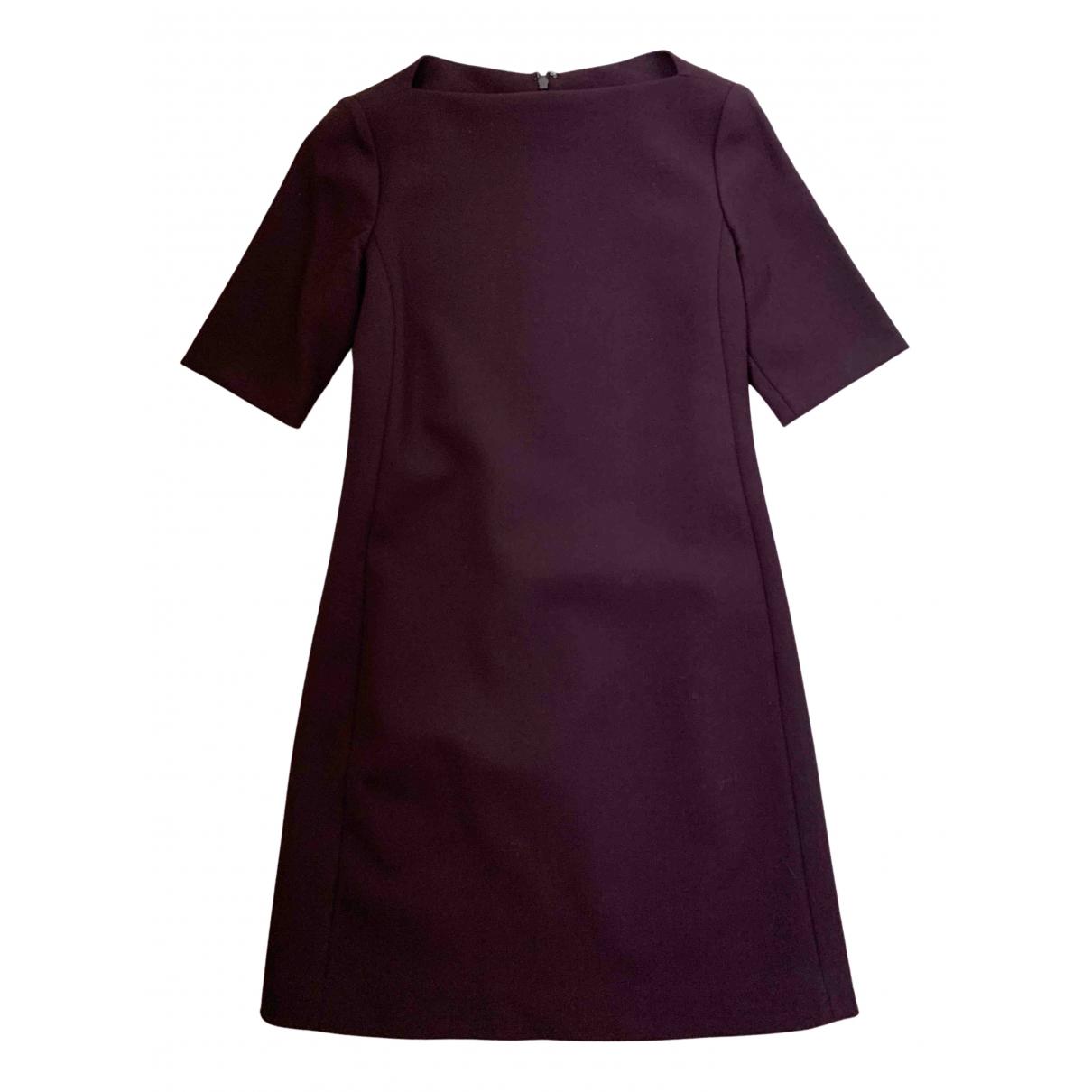 Theory \N Kleid in  Bordeauxrot Wolle
