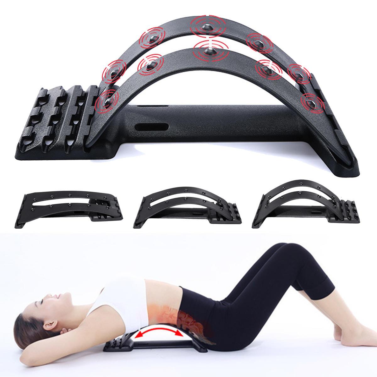 KALOAD Enhanced Edition Back Massage Stretcher Back Support Sport Fitness Cervical Lumbar Vertebrae Correction
