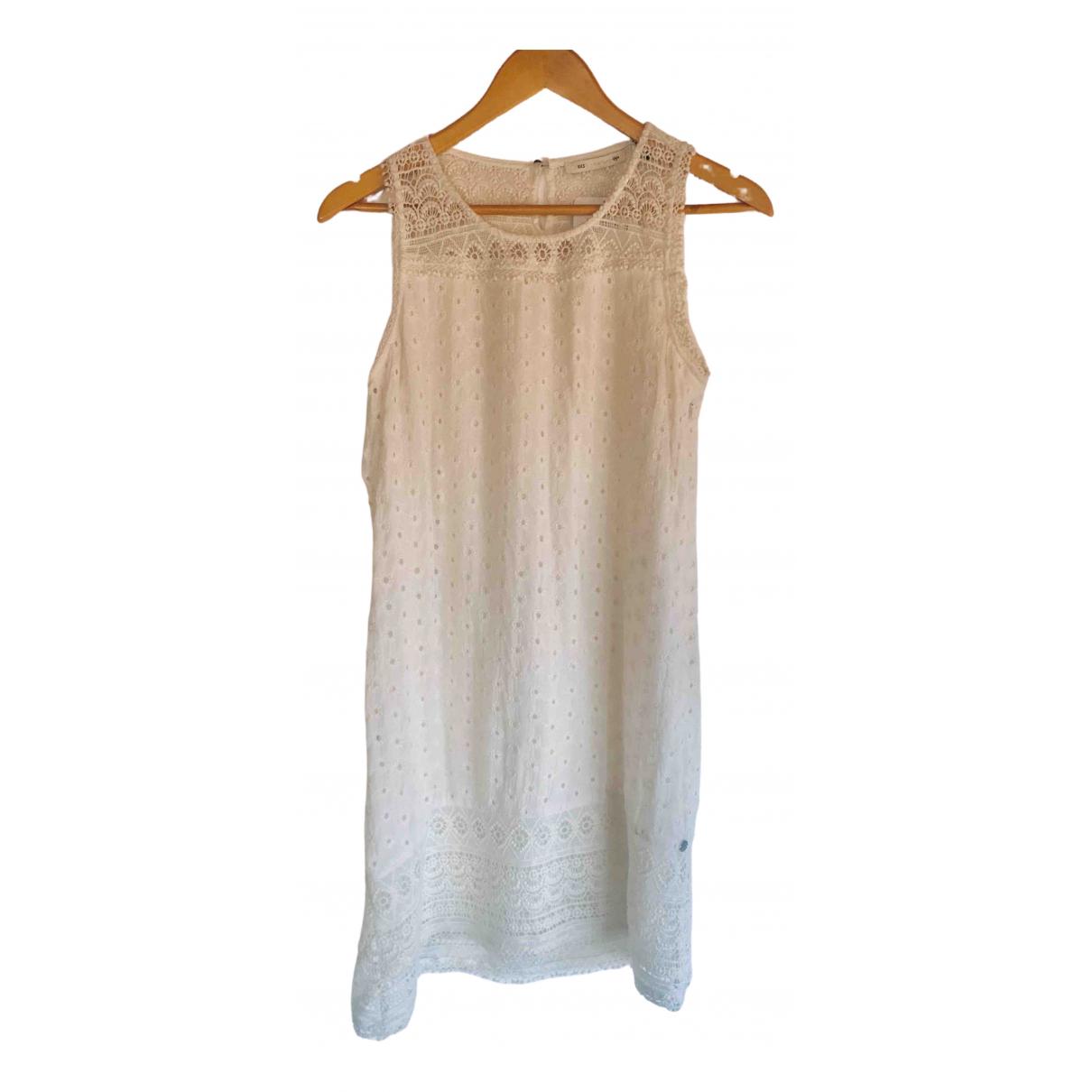 Ikks \N White Cotton dress for Women 36 FR