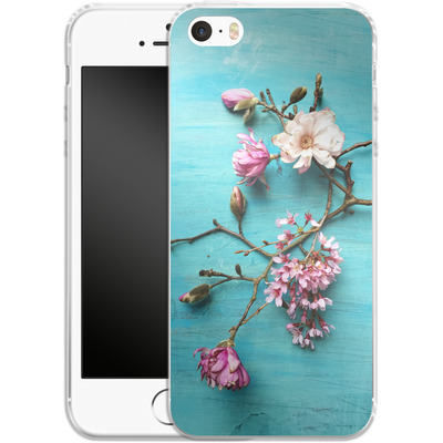 Apple iPhone 5 Silikon Handyhuelle - Flowers of Spring von Joy StClaire