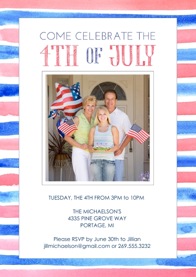 4th of July Photo Cards Flat Matte Photo Paper Cards with Envelopes, 5x7, Card & Stationery -Celebrate 4th of July