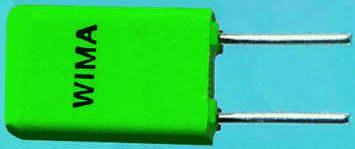 WIMA 2.2nF Polypropylene Capacitor PP 63 V ac, 100 V dc ±5% Tolerance Through Hole FKP2 Series (5)