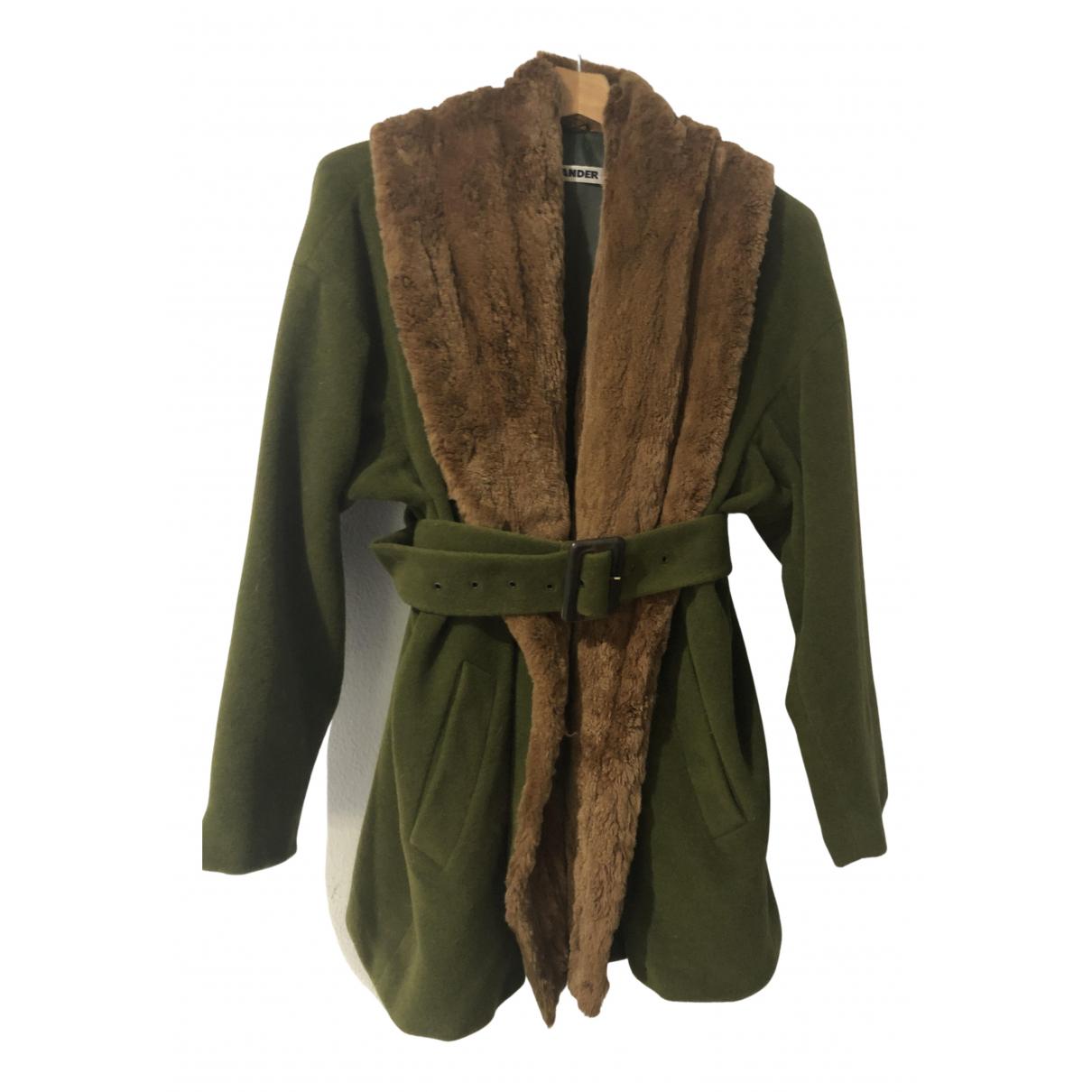 Jil Sander \N Maentel in  Gruen Wolle