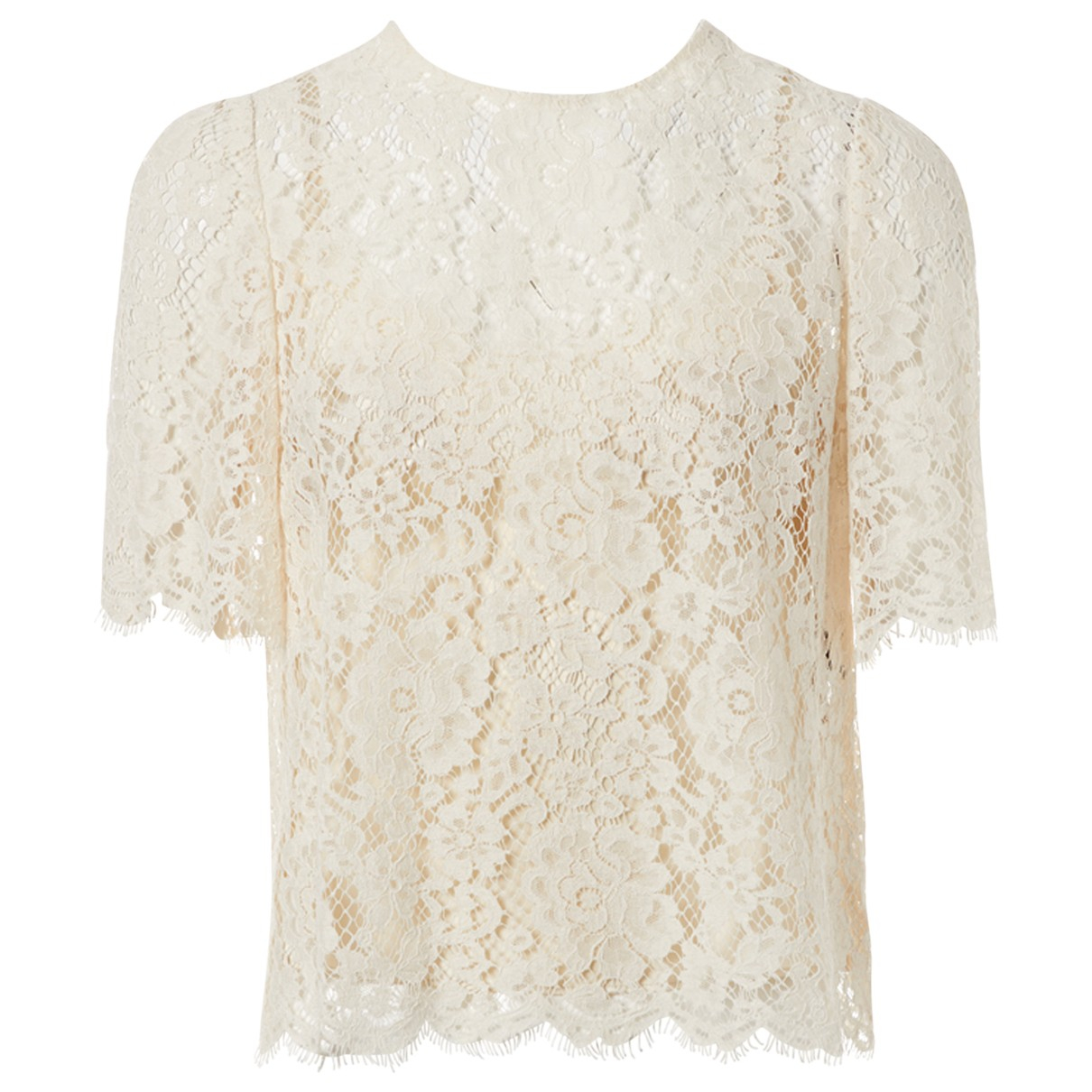 Dolce & Gabbana \N Ecru Cotton  top for Women 40 IT