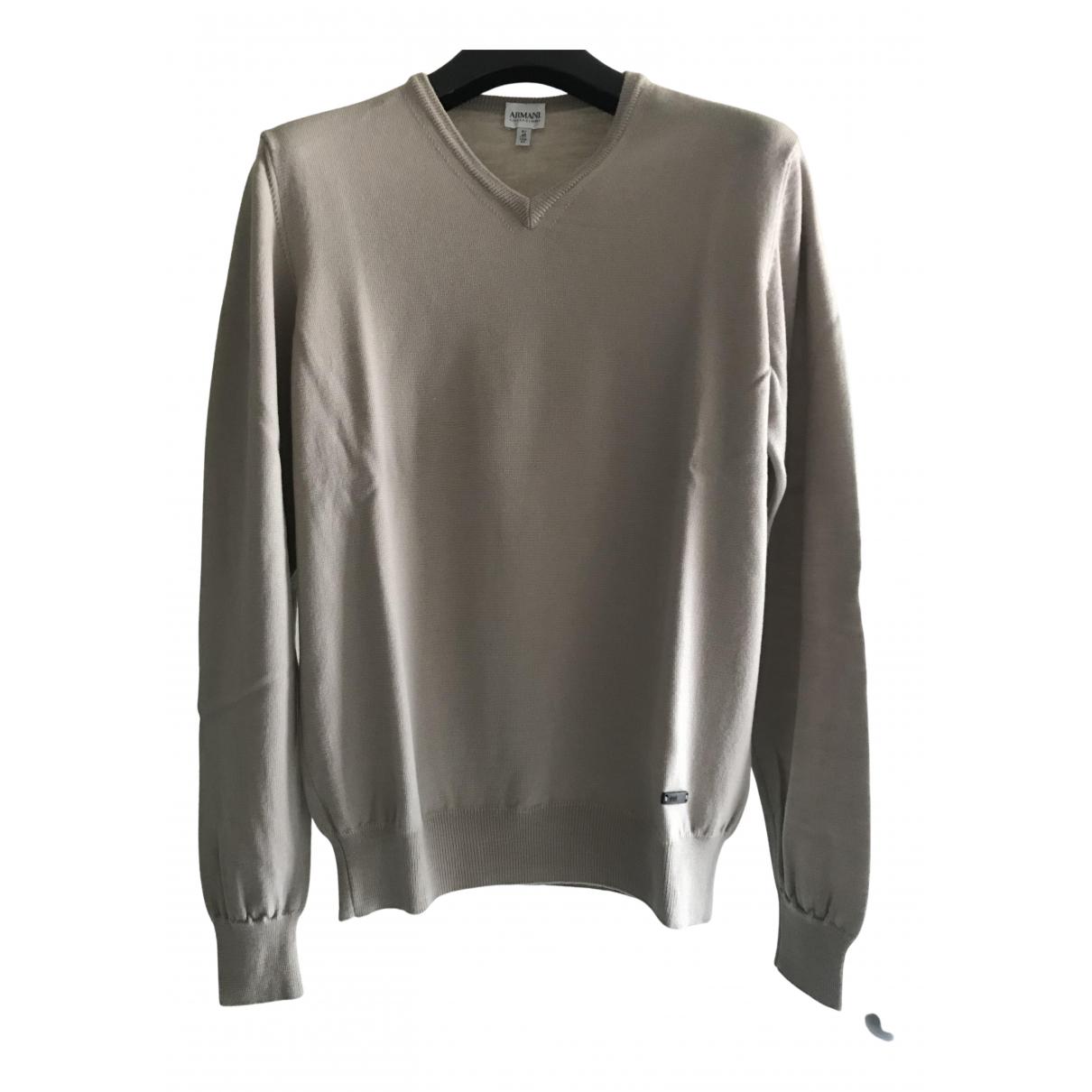 Armani Collezioni \N Pullover.Westen.Sweatshirts  in  Beige Wolle
