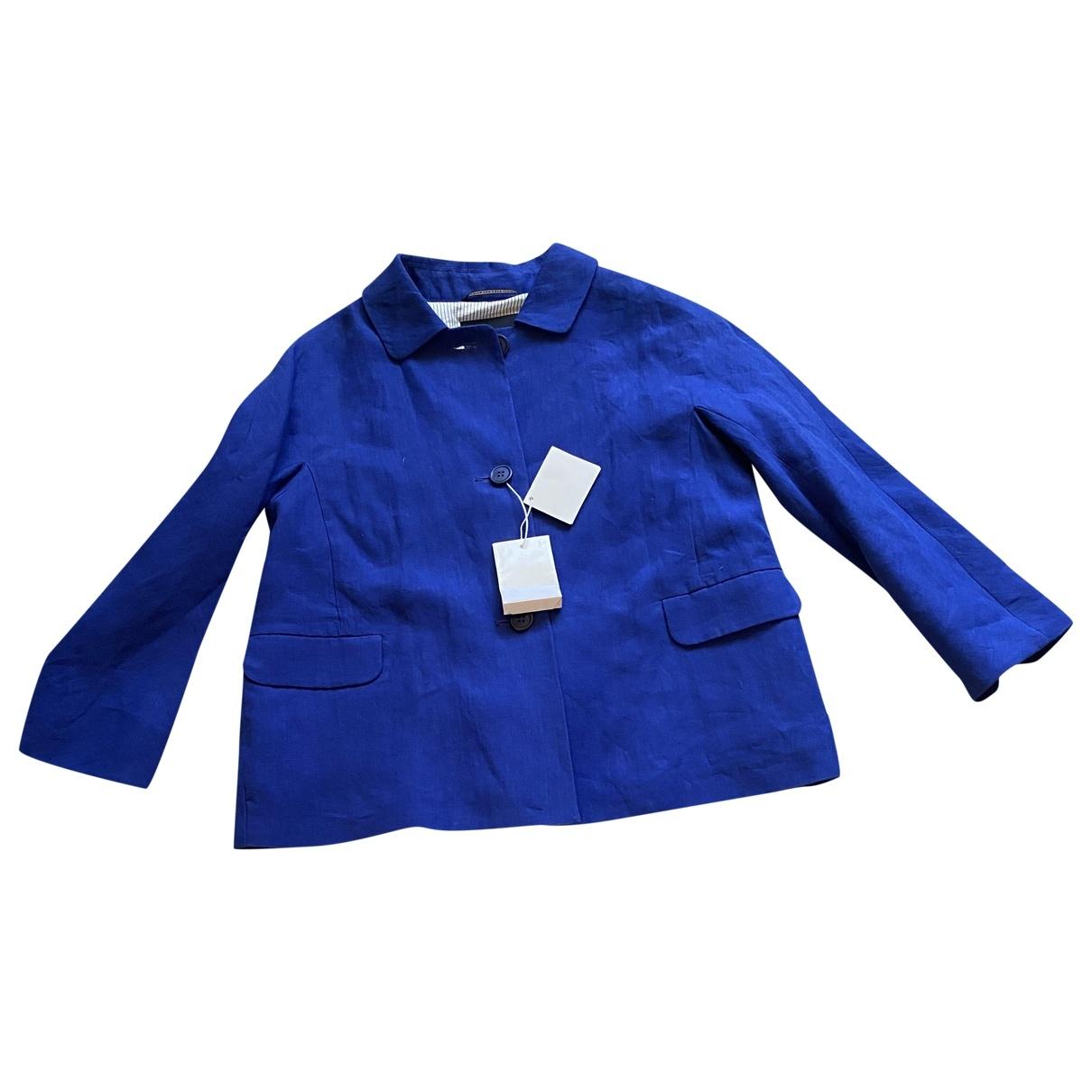 Max Mara s - Veste   pour femme en lin - bleu