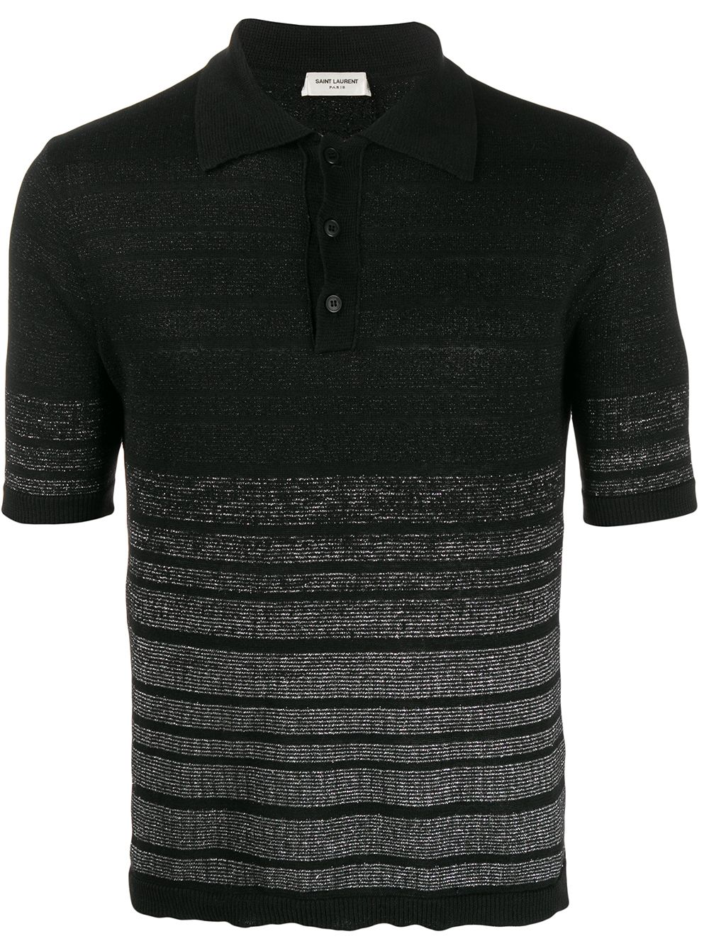 Striped Print Polo