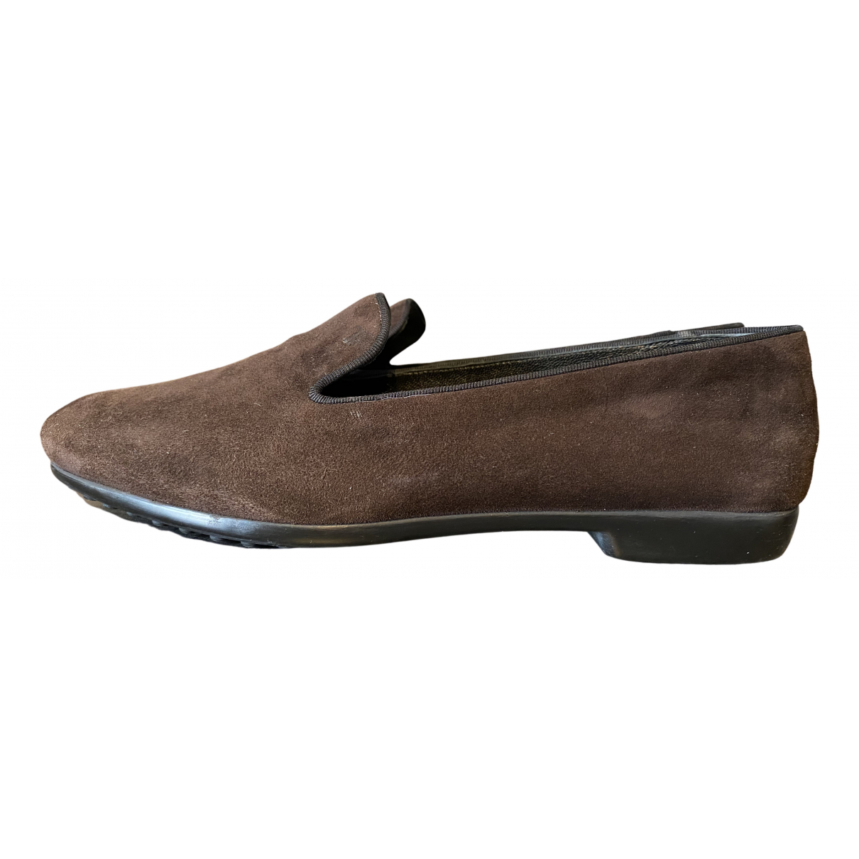 Tod's Gommino Brown Suede Flats for Women 39 EU