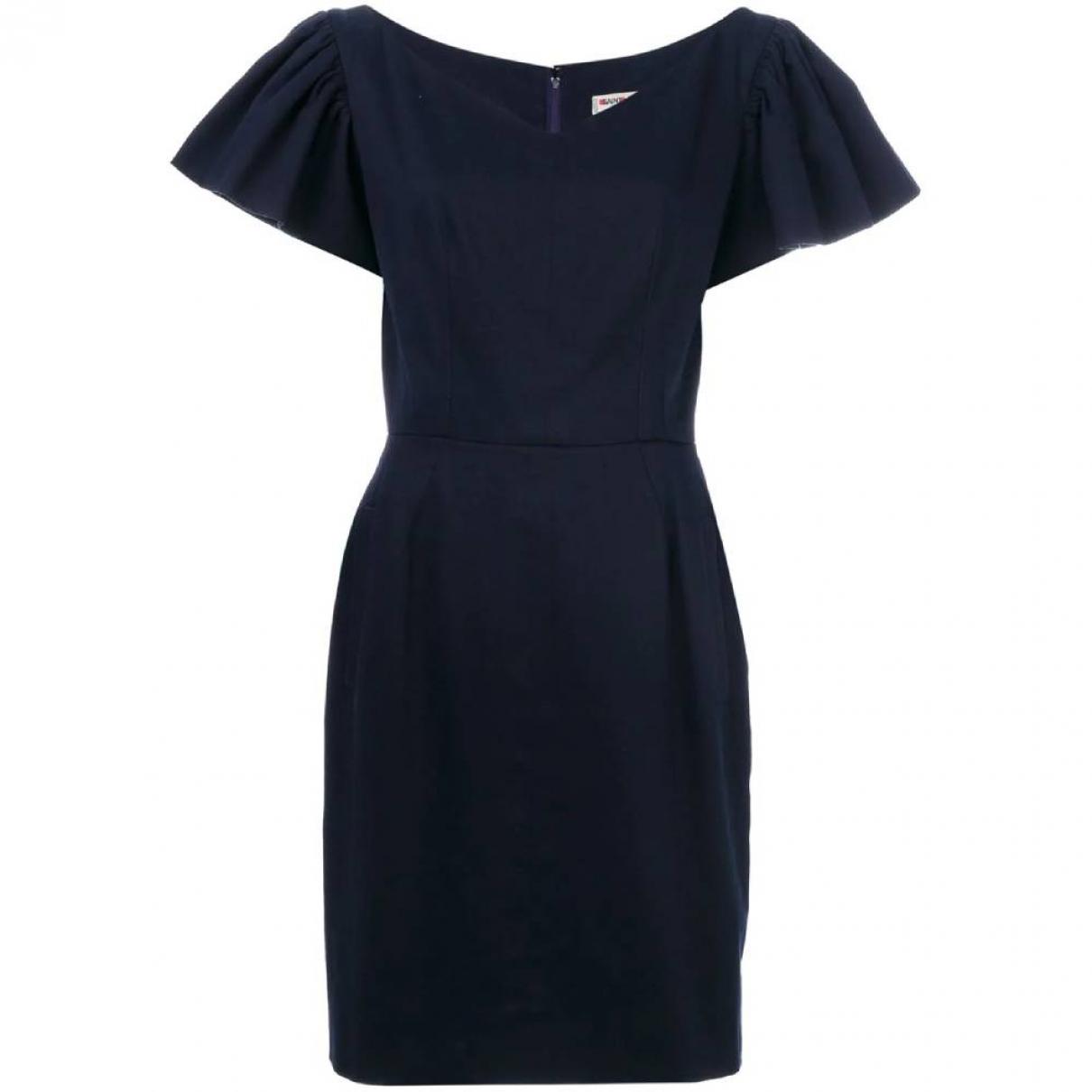 Yves Saint Laurent \N Navy Cotton dress for Women 42 IT