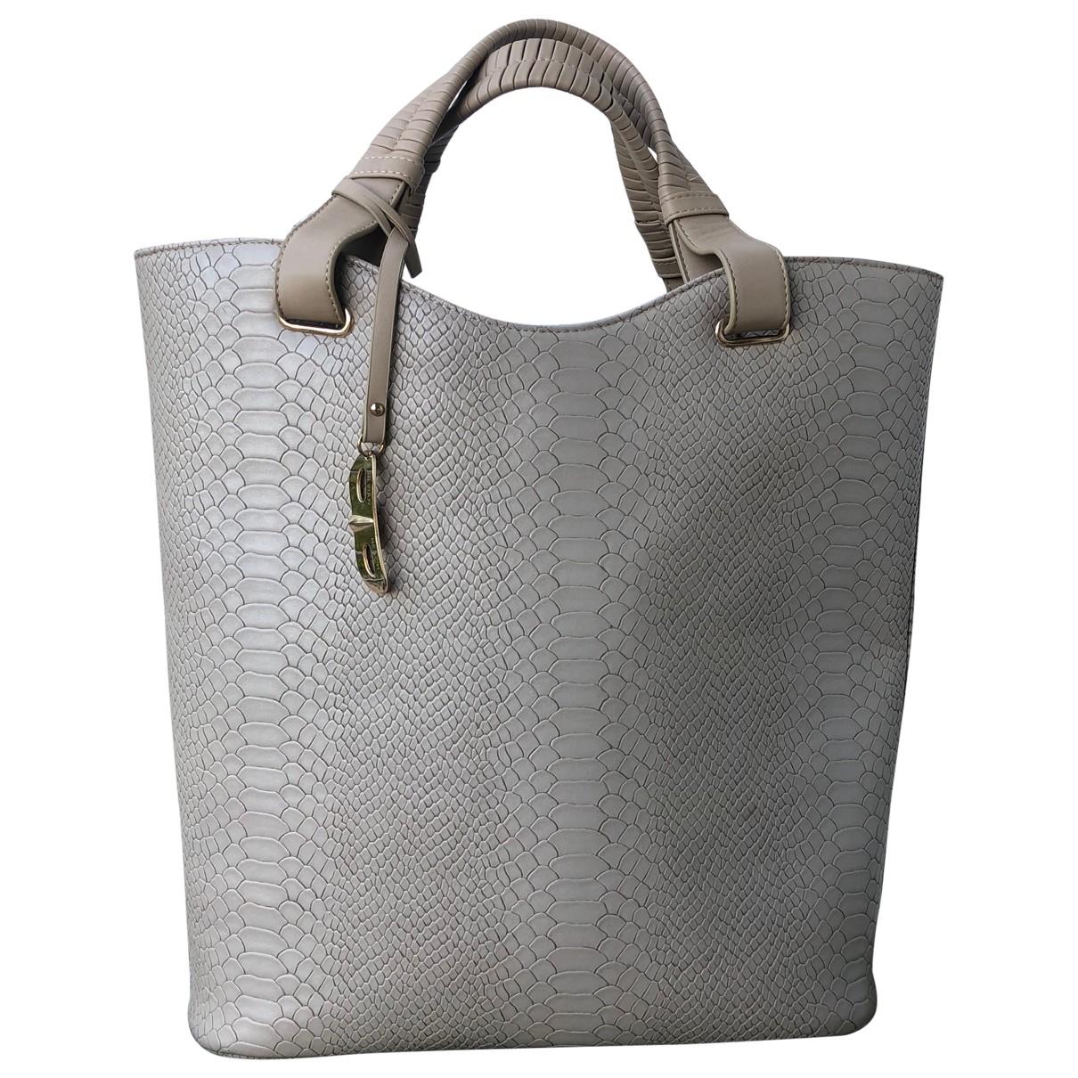 Silvian Heach \N Grey Leather handbag for Women \N