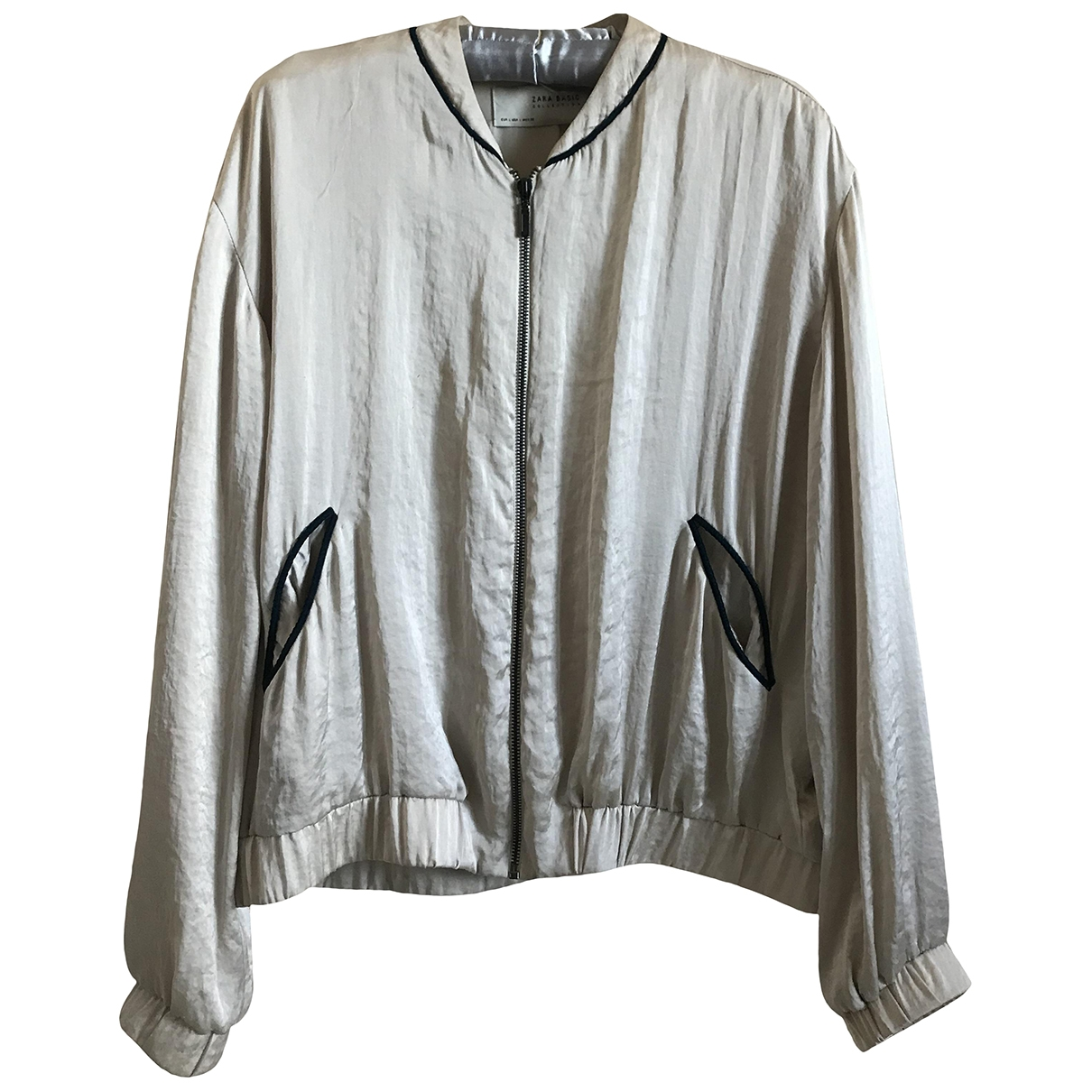 Zara \N Jacke in  Gold Polyester