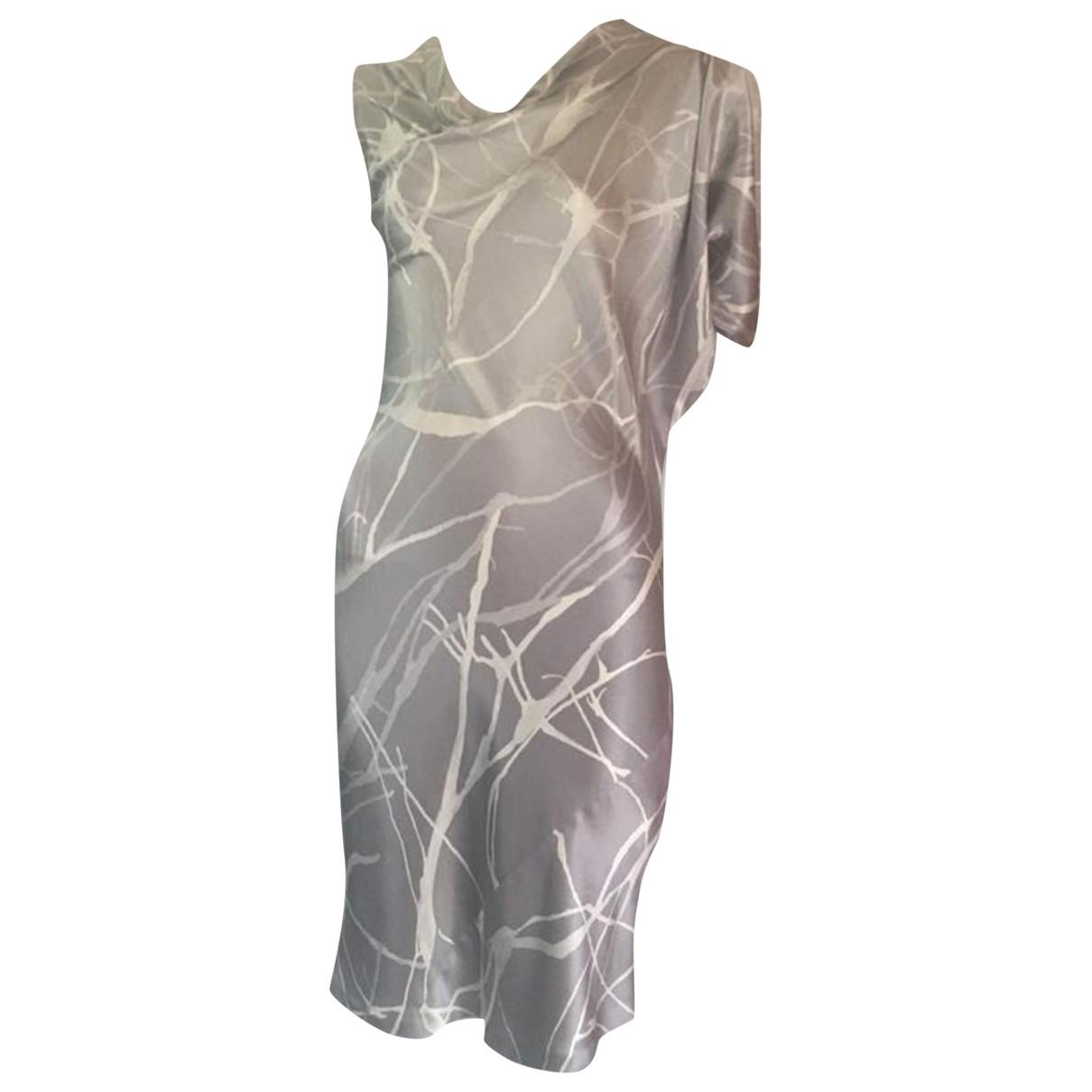 Calvin Klein Collection \N Kleid in  Grau Seide