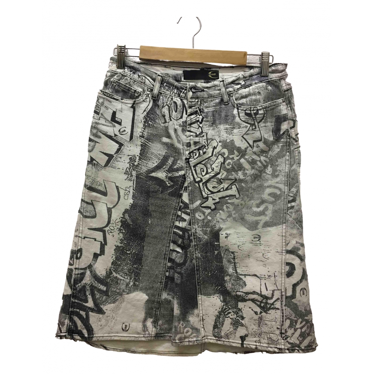 Just Cavalli \N Grey Denim - Jeans skirt for Women 44 IT