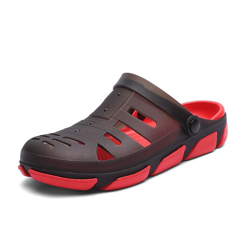 Ericdress Simple Hollow Slip-On Round Toe Men's Sandals