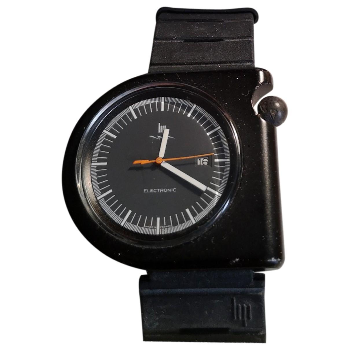 Lip \N Uhr in  Schwarz Stahl