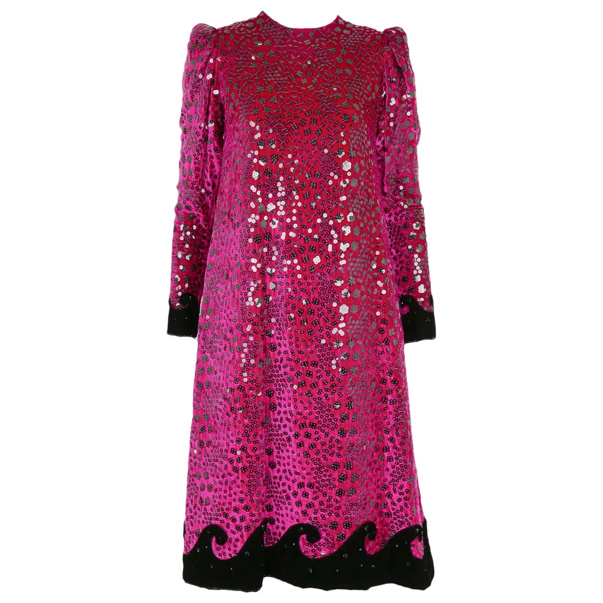 Givenchy \N Kleid in  Rosa Samt