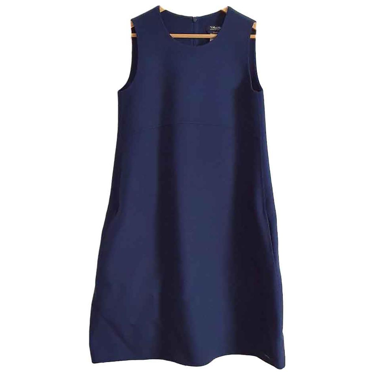 Max Mara s N Blue Wool dress for Women 42 IT