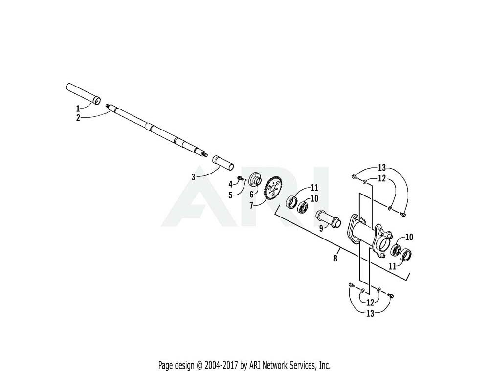 Arctic Cat OEM 3303-151 Shaft Rear Wheel