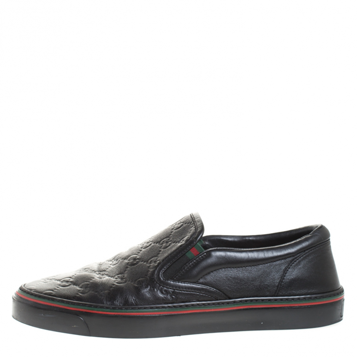 Gucci \N Black Leather Trainers for Men 9.5 US