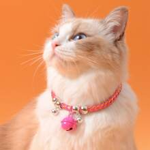 Bell Decor Braided Cat Necklace