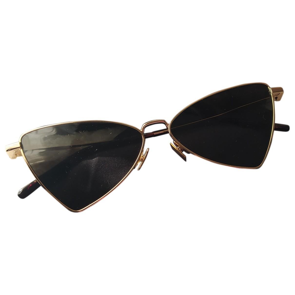 Saint Laurent Jerry Gold Metal Sunglasses for Women N