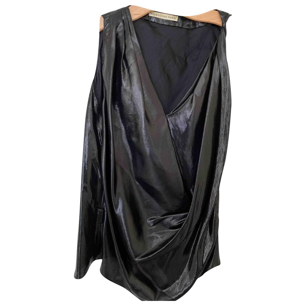 Balenciaga - Top   pour femme en soie - noir