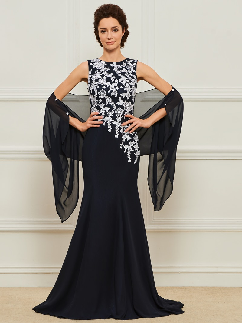 Ericdress Mermaid Appliques Mother of the Bride Dress