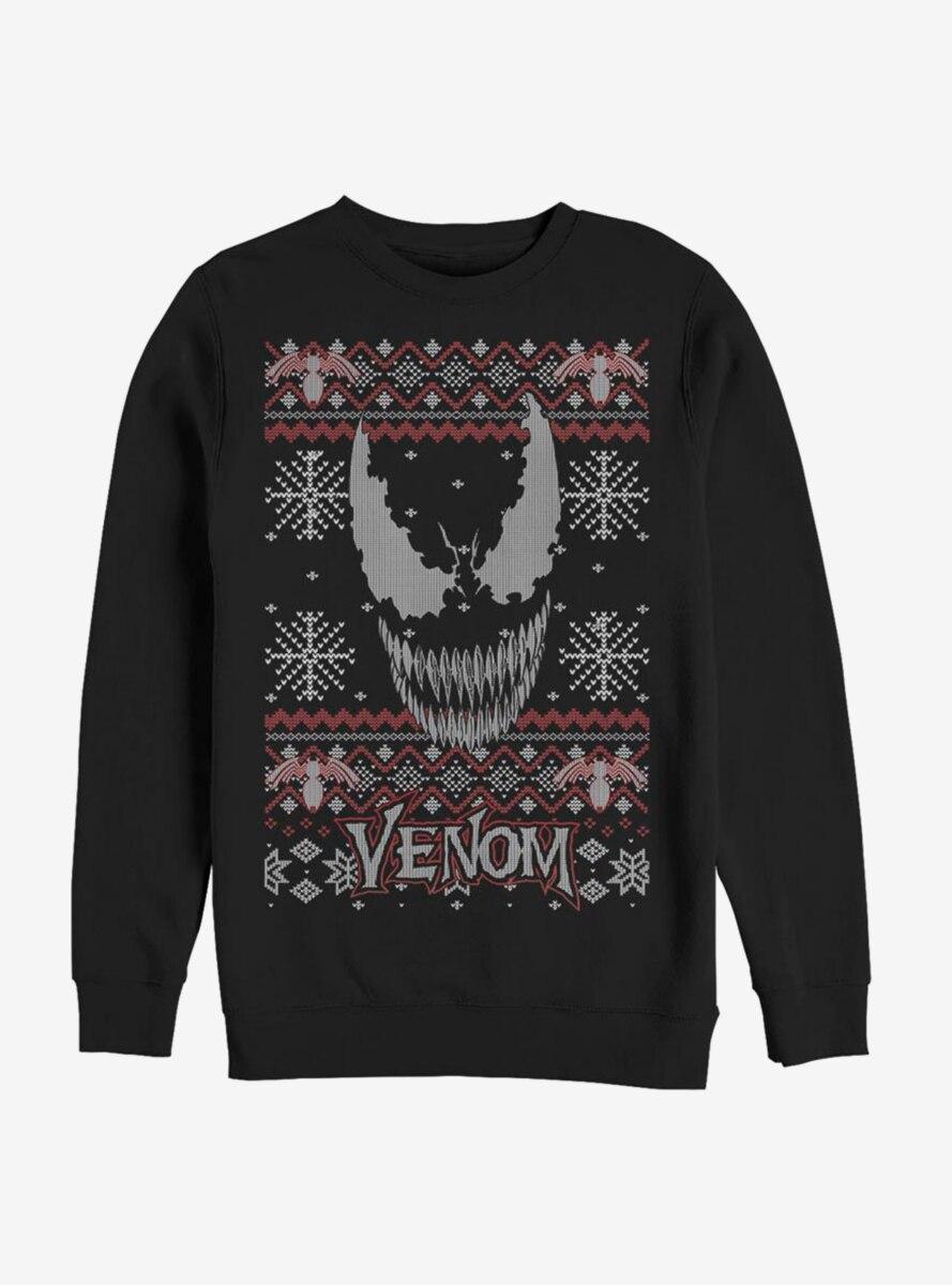 Marvel Venom Face Christmas Pattern Sweatshirt