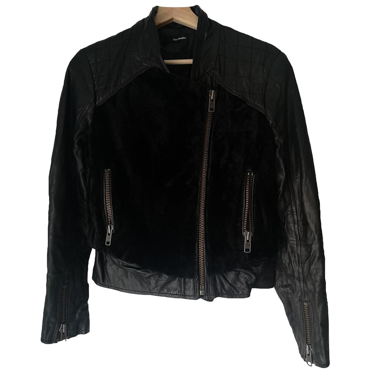 The Kooples - Veste   pour femme en cuir - noir