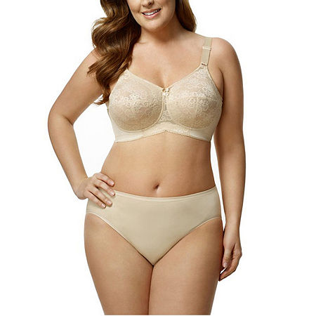 Elila Lace Softcup Full Coverage Bra, Dd , Beige