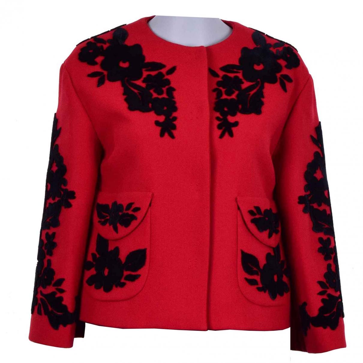 Dolce & Gabbana - Veste   pour femme en laine - rouge