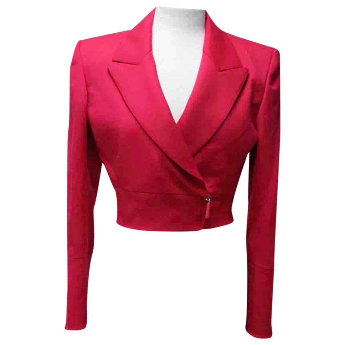 Claude Montana \N Pink Wool jacket for Women 40 IT