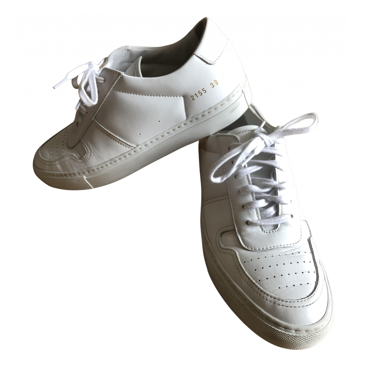 Common Projects N White Leather Trainers for Women 39 EU