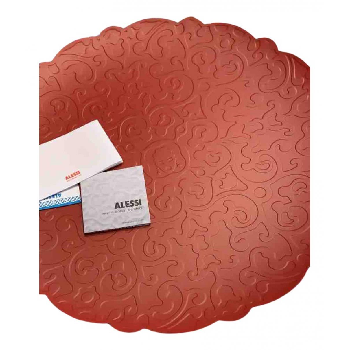 Alessi \N Tischkultur in  Rot Stahl