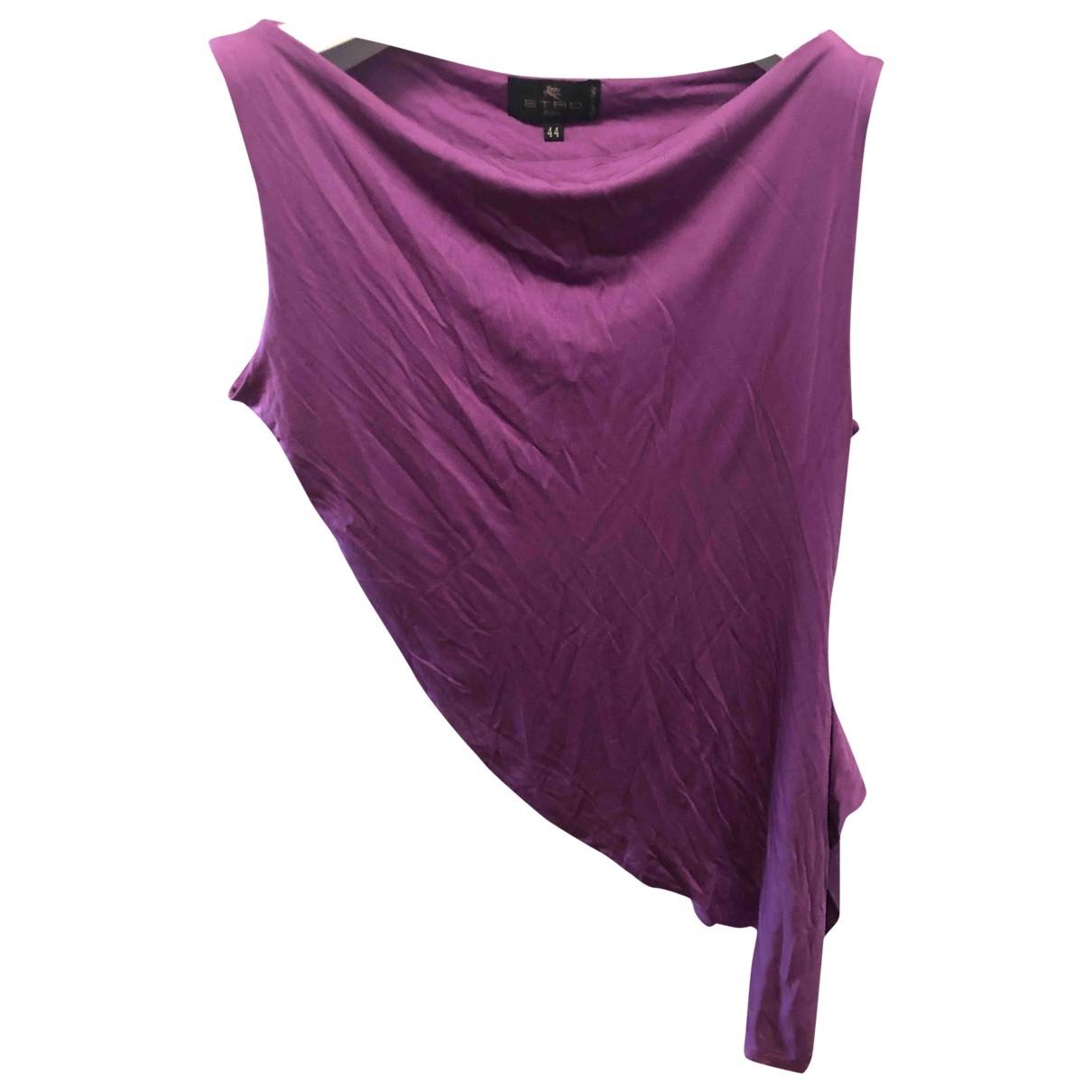 Etro - Top   pour femme en soie - violet