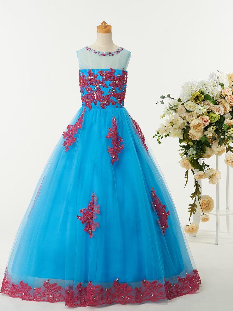 Ericdress Sweet Jewel Appliques Flower Girl Party Dress