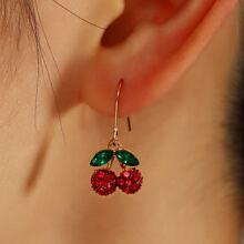 Ohrringe mit Strass und Obst Dekor