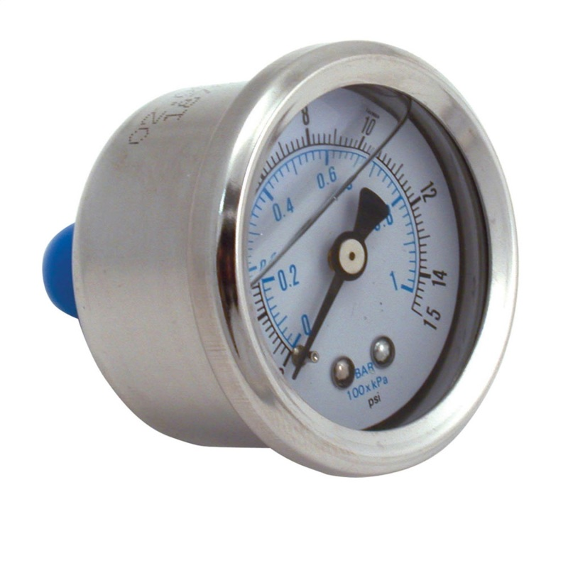 Spectre 2515 Fuel Pressure Gauge (Liquid Filled) 0-15psi