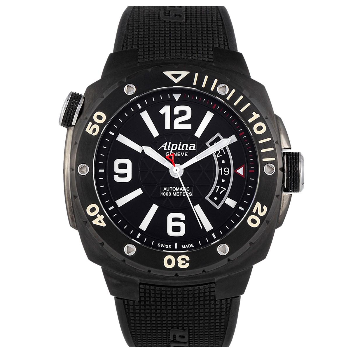Alpina \N Uhr in  Schwarz Stahl