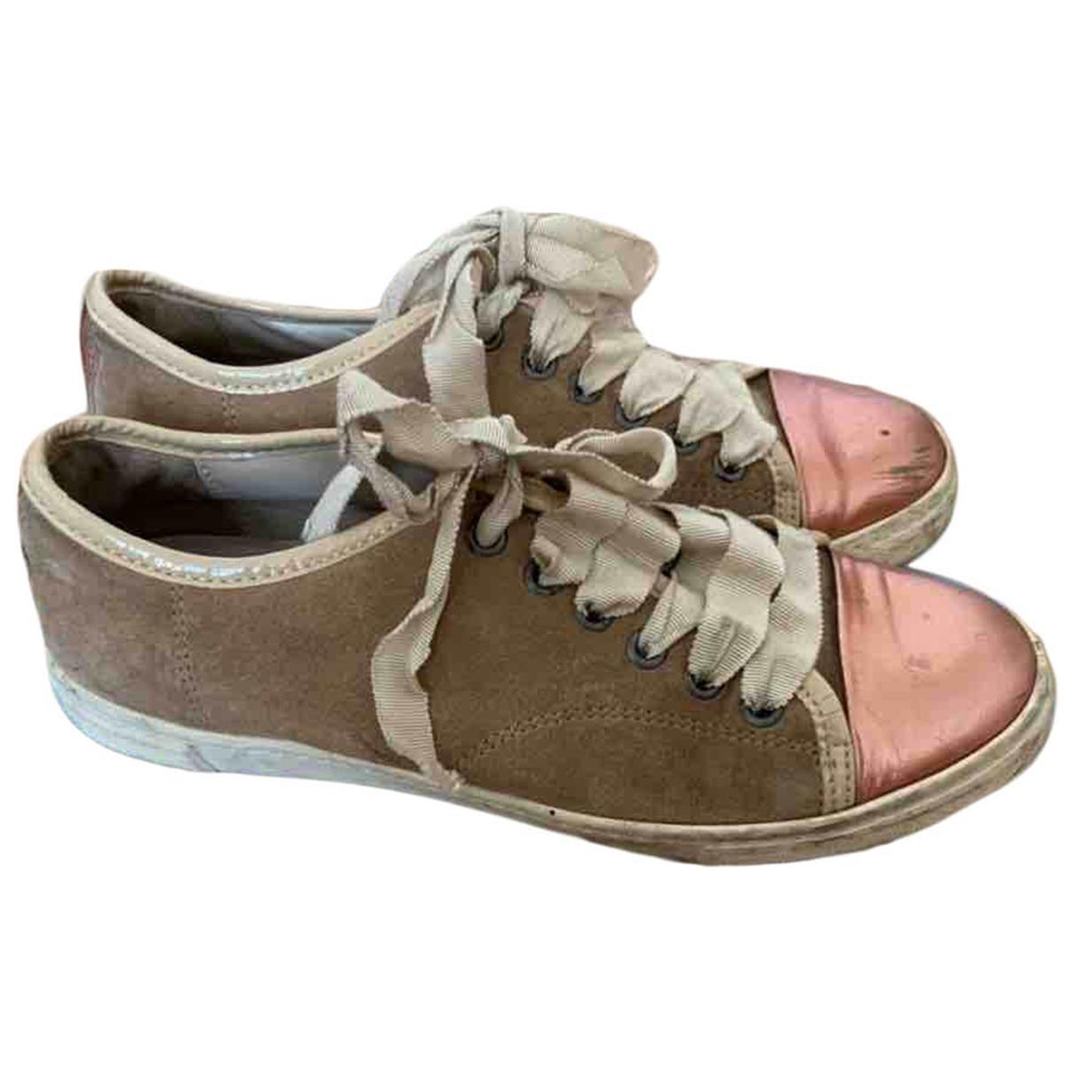 Lanvin \N Sneakers in  Bunt Veloursleder