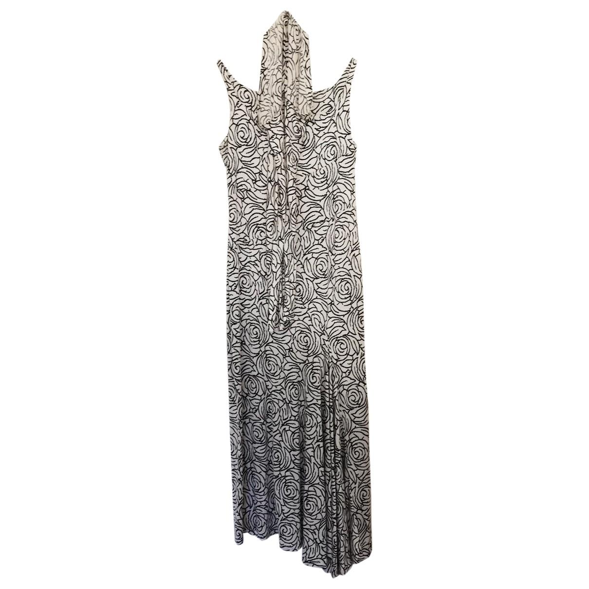 Non Signé / Unsigned \N White Silk dress for Women 42 FR