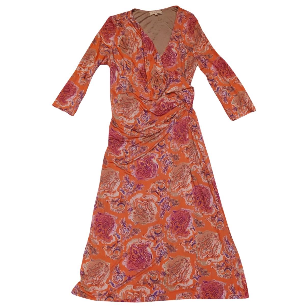 Etro \N Kleid in  Orange Viskose