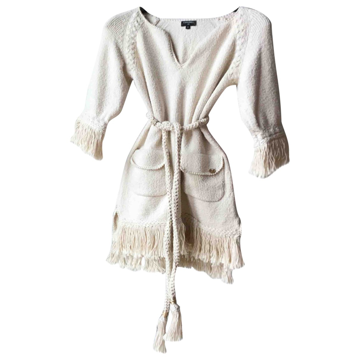 Chanel \N Kleid in  Beige Wolle