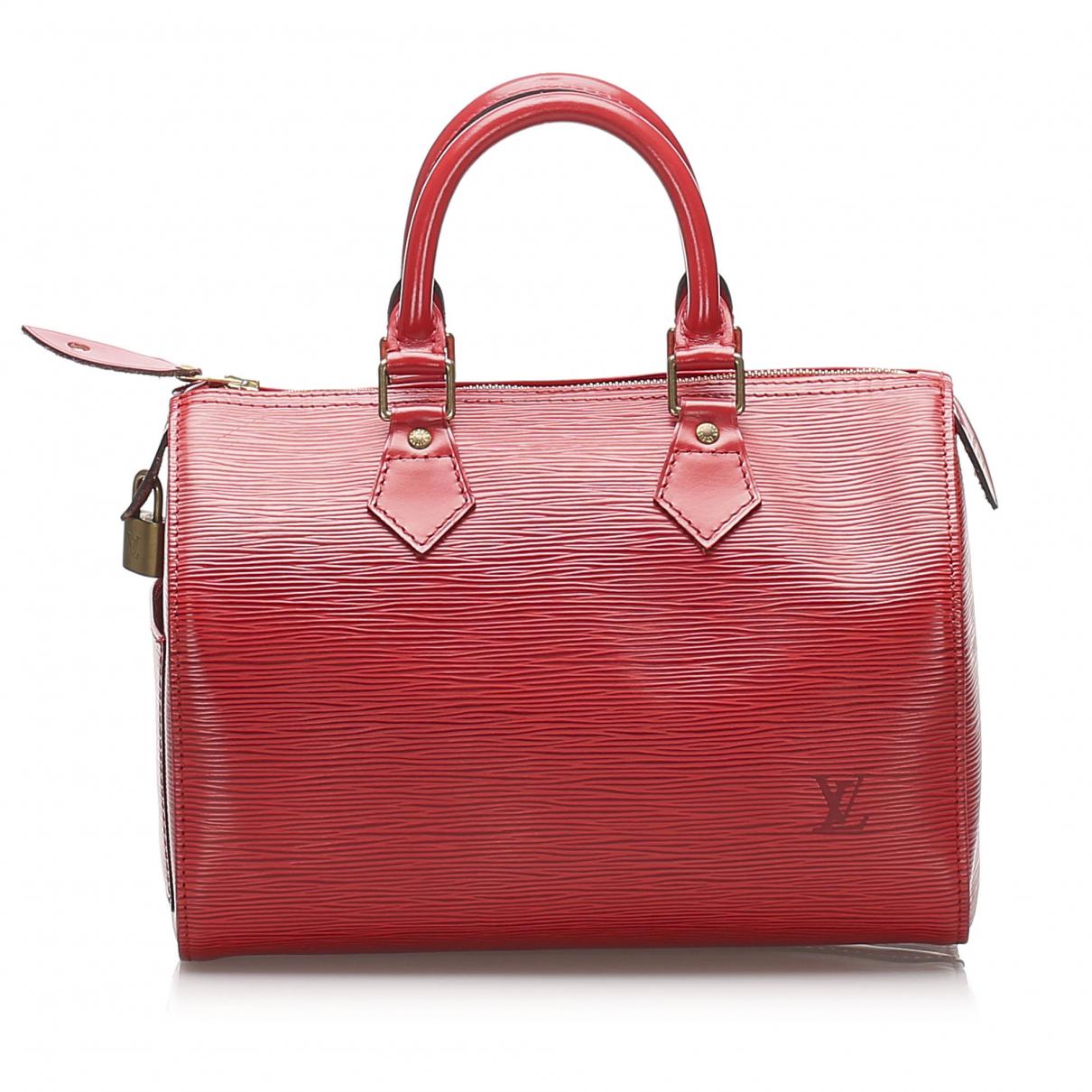 Louis Vuitton - Sac de voyage   pour femme en cuir - rouge