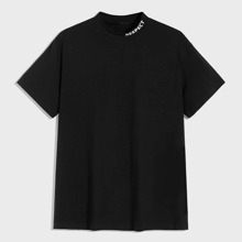Men Letter Graphic Neck Tee