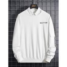Sweatshirt mit Buchstaben Muster und Band