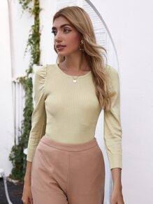 Tied Open Back Solid Sweater
