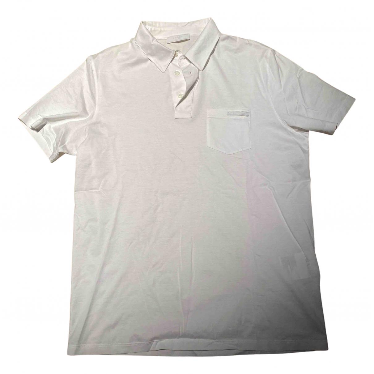Polo en Algodon Blanco Prada